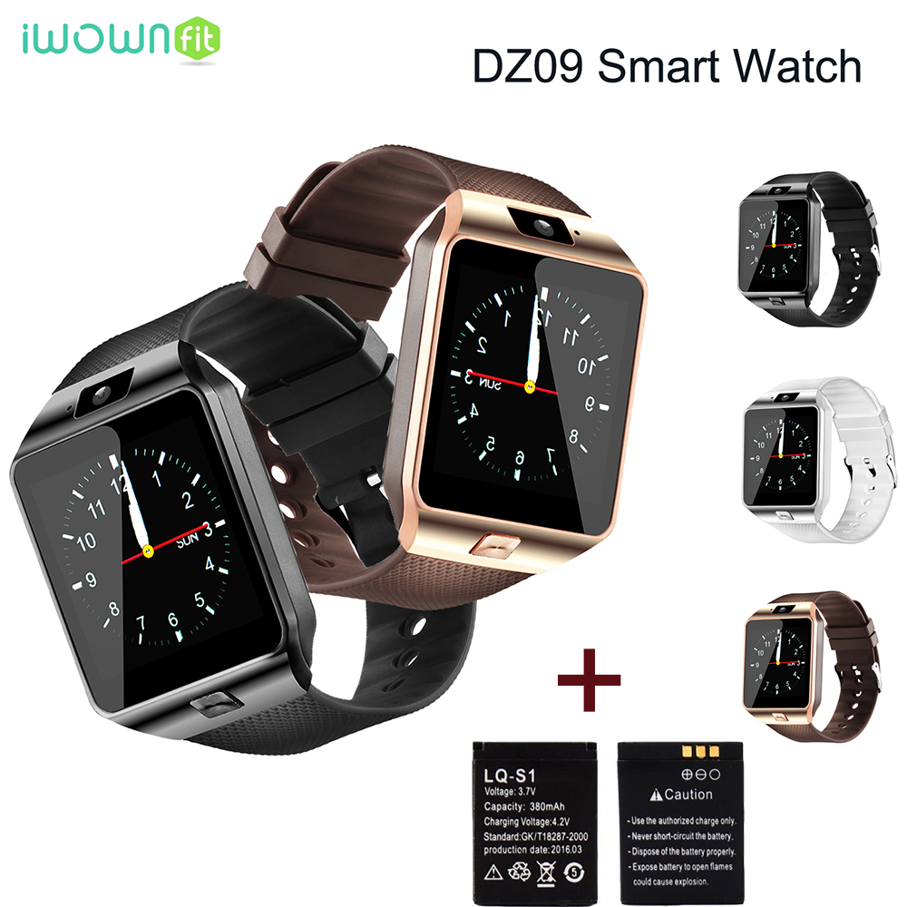 Iwownfit Smart Watches Call Reminder DZ09 Bluetooth Smartwatch Android Dz 09 Smart Watch DZ09 Battery With