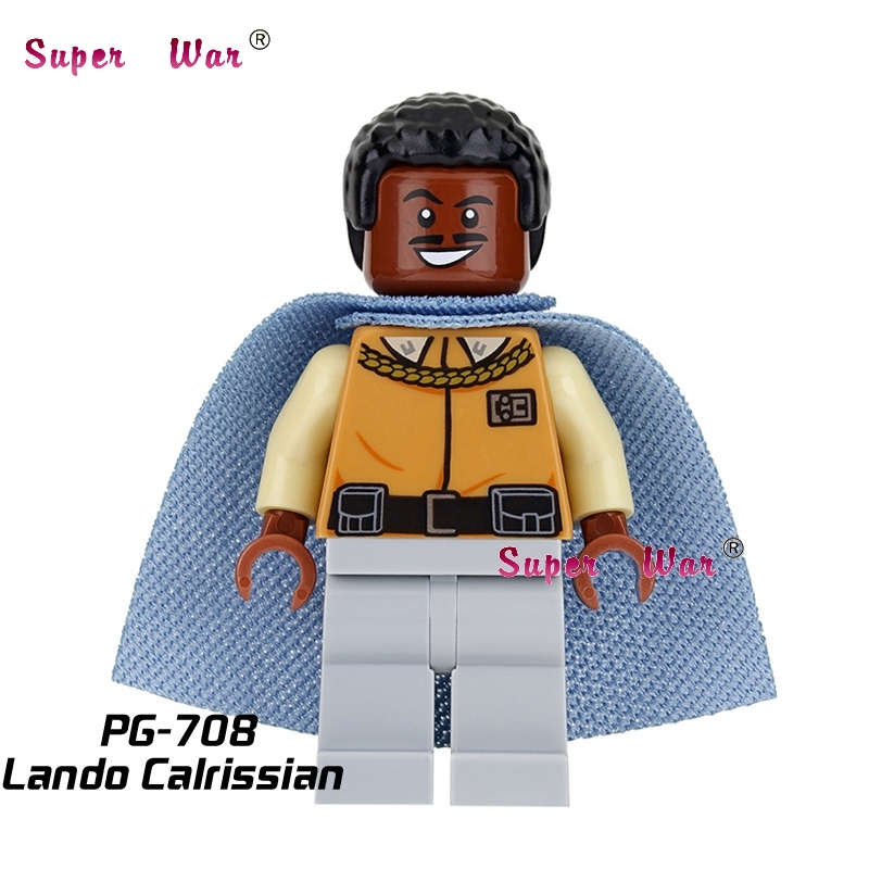 1pcs  Super Heroes Marvel Dc Comics Lando Calrissian Building Blocks Models Bricks Toys For Children Kits