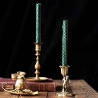 Europe Retro Candlestick Bronze Angel candle holders Vintage Antique Candlestick Restaurant Candle Holder Home tabletop decorat