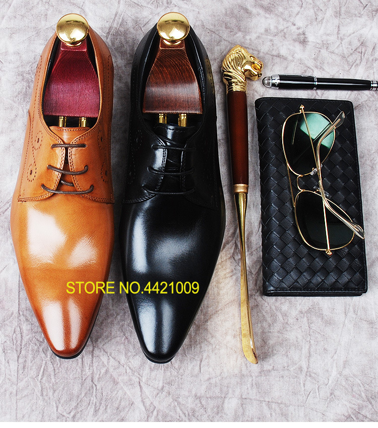 European Style Mens Italian Fashion Dress Wedding Pointed Toe Lace up Male Oxfords Shoes 2018 Spring Autumn Party Tuxedo ShoesEuropean Style Mens Italian Fashion Dress Wedding Pointed Toe Lace up Male Oxfords Shoes 2018 Spring Autumn Party Tuxedo Shoes
