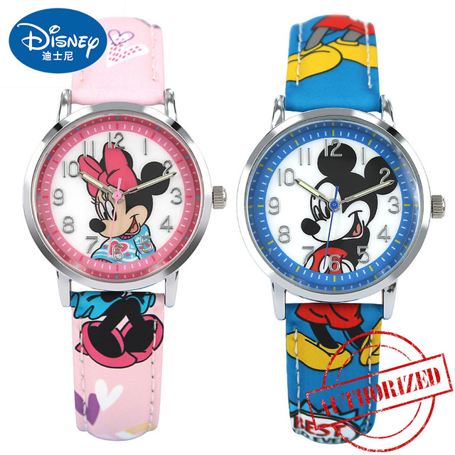 Genuine Mickey Mouse Children Lovely Cartoon Watch Boys Girls Fashion Casual Kid