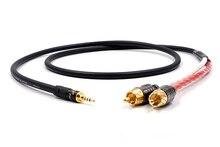 A53 HIFI TRRS zrównoważony 2.5mm do 2 męski kabel Audio RCA dla Cayin N5 Iriver AK240 AK380 AK120II wzmacniacz Onkyo DP X1