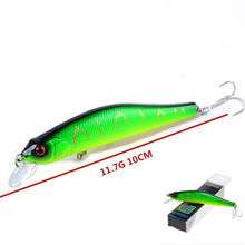 1Pcs 11.7g/10cm Boxed Minnow Fishing Lure Crankbait Artificial Hard Bait Fishing Tackle  Wobblers Swimbait For Pike Bass YB-58