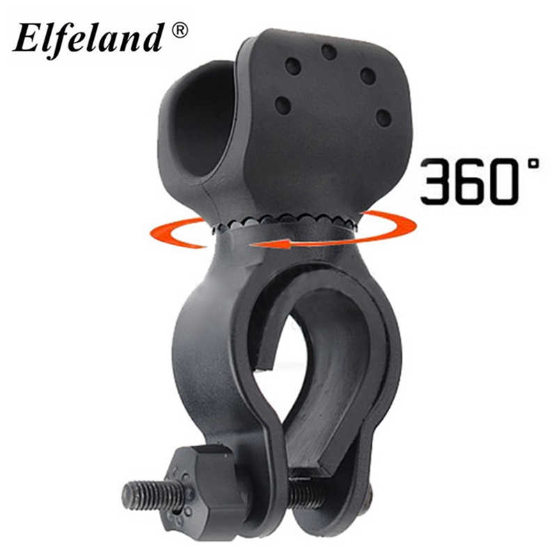 Universal 360 Degree Bicycle Flashlight Mount Bracket Holder LED Torch Lamp