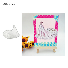 JC New Arrival Skirt Wedding Dress Metal Cutting Dies for Scrapbooking DIY Embossing Folder Cards Handmade Album Stencil Crafts