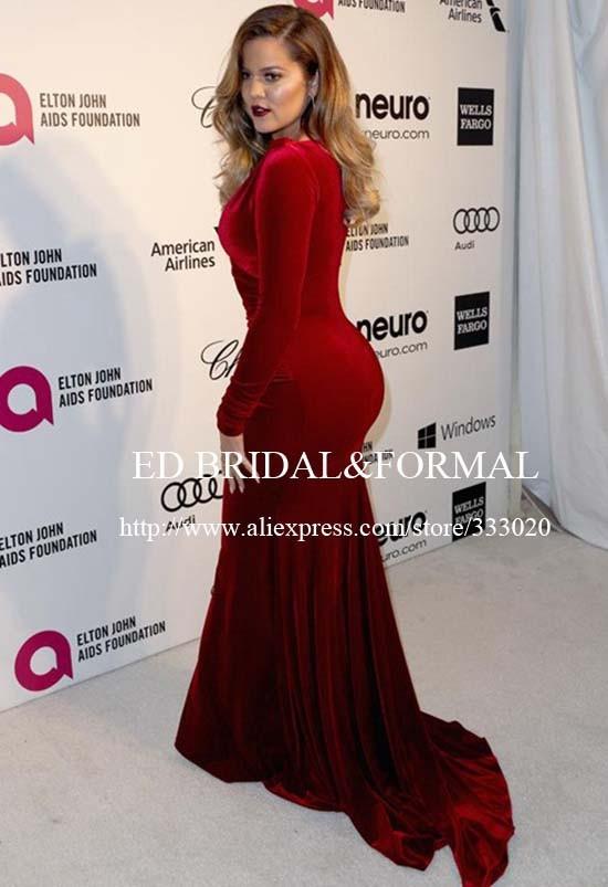 159.99 khloe-kardashian-burgundy-dress-2014-elton-john-oscar-party-01 (3)