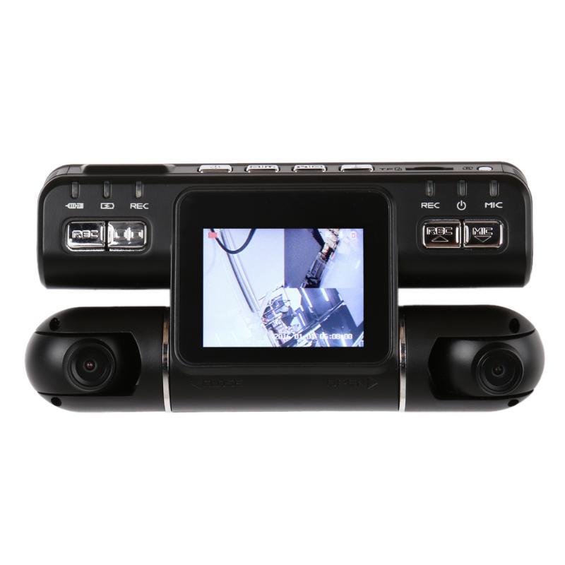 цена на 2 inch Car DVR Camera 360 HD 1080P Dual Lens Rear View Camera Night Vision G Sensor Car Recorder Car Dvrs Registrar Dash Cam New