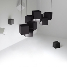 Nordic Loft White/black Stereoscopic Sense Led Pendant Lights Lighting Fashion Design Music Bar Restaurant Luminaire
