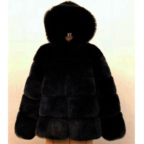 9e6adfc7a32 Dropwow ZADORIN 2018 Winter Thick Warm Faux Fur Coat Women Plus Size ...