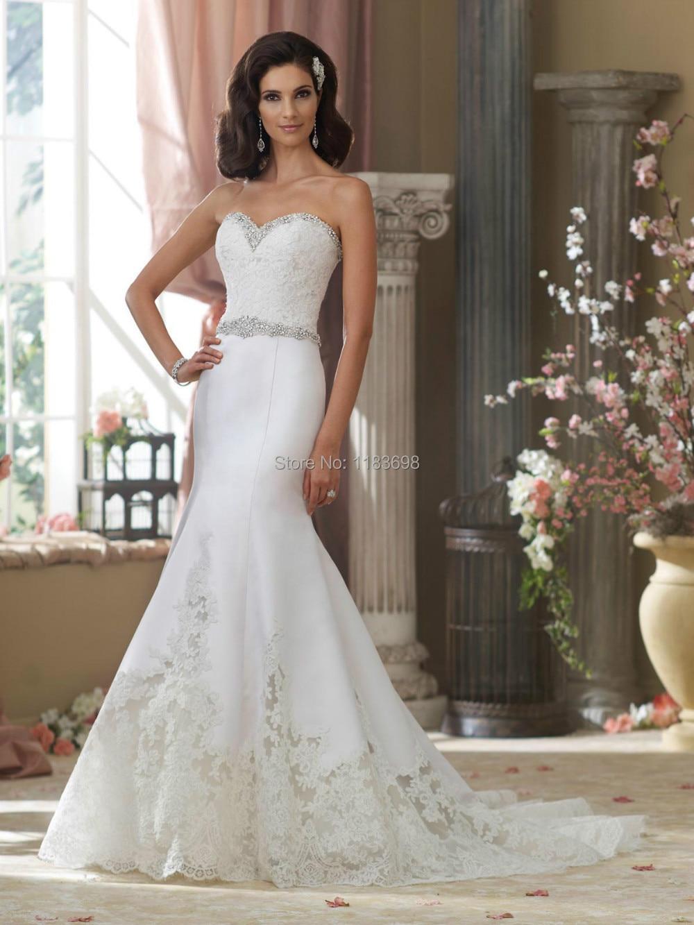 High Quality Simple Unique Lace Mermaid Wedding Dress