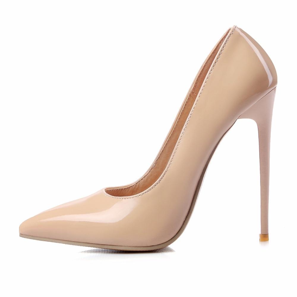 Zapatos de marca Mujer Tacones Altos Bombas Rojas Tacones Altos 12 CM Zapatos de