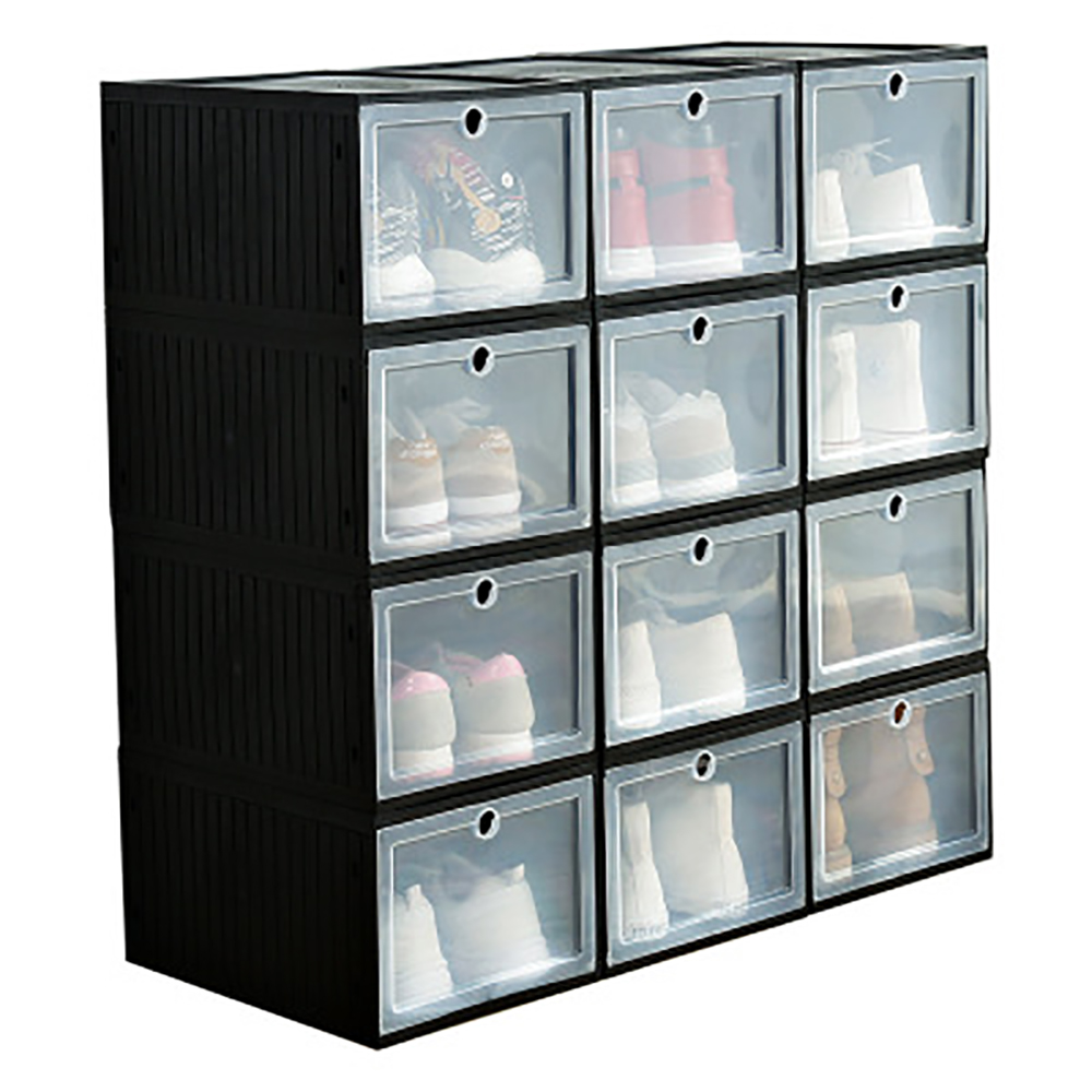 Drawer Type Basketball Shoe Box Large Storage Hard Plastic Simple Sneaker Assembly For AJ Shoes Organizer Drawer Box