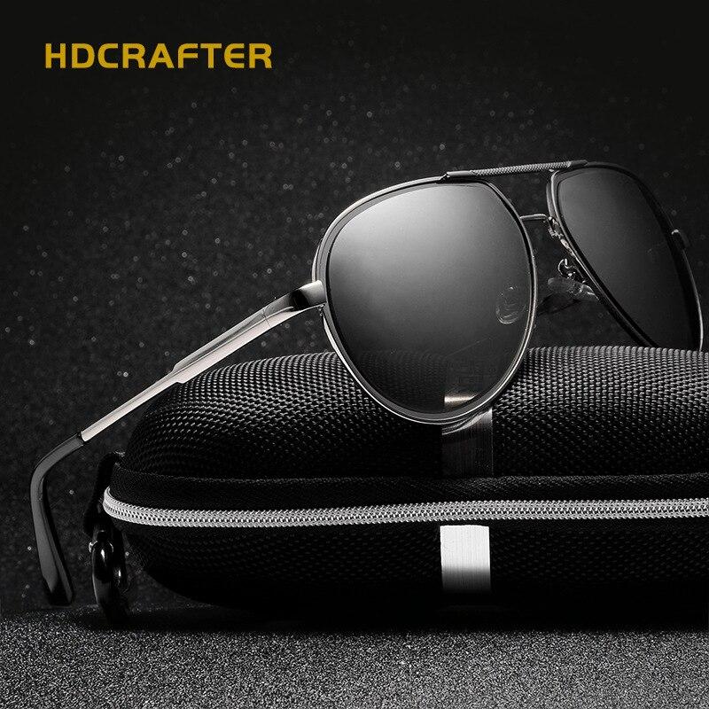 a94f2feb2d4 HDCRAFTER 2017 Fashion Men Polarized Sunglasses Brand Design Fishing Driving  Pilot Sun Glasses Metal Frame 2018 de sol