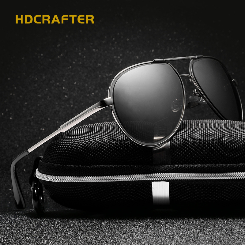 HDCRAFTER 2017 font b Fashion b font Men font b Polarized b font Sunglasses Brand Design