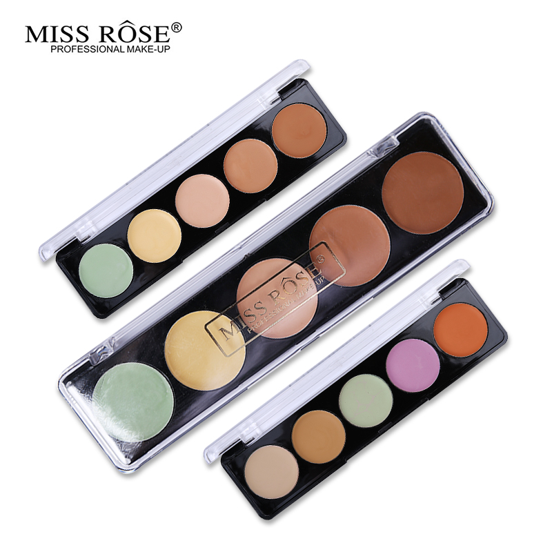 Brand Miss Rose New 5 Colors Concealer Palette Cream Makeup Face Eyes Flaws Camouflage Cover
