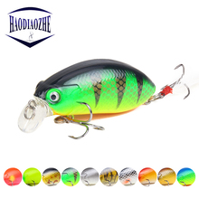 Купить с кэшбэком 1pcs 6cm 9g Crankbait Fishing Lures Isca Artificial Hard Crank Bait Bass Fishing Wobblers Japan Topwater Minnow Pesca Tackle