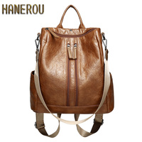 2018 Fashion PU Leather Backpacks High Quality Mochila Escolar School Bags For Teenagers Girls Top Handle