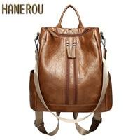 2018 Fashion PU Leather Backpacks High Quality Mochila Escolar School Bags For Teenagers Girls Top Handle