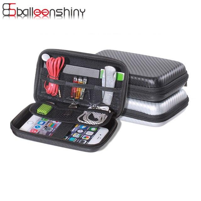 BalleenShiny цифровая сумка для хранения электронных аксессуаров сумка жесткий диск органайзеры наушники кабели USB флеш-накопители Дорожный Чехол