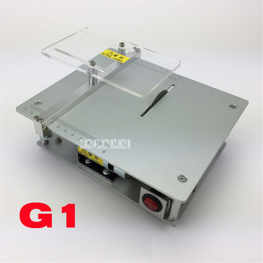 New Mini Table Handmade Woodworking Bench DIY Model Cutting Saw Machinery Precision Miniature Table Saw G1 DC-24V/4A 3800r/min 19 24v small bench saw low noise high torque for diy model use with50mm saw portable mini table saw