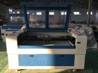 Double heads Laser Cutting Machine For Leather Fabric Cutting Fast Speed 100w CO2 Laser Cutter