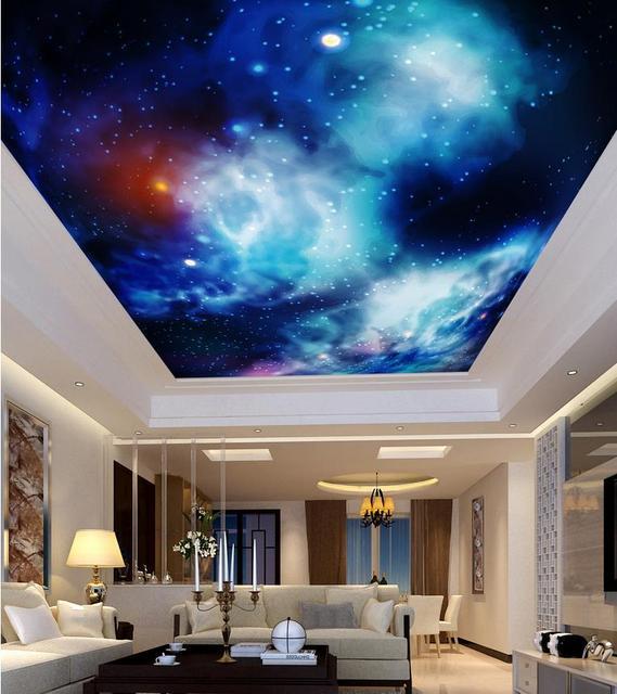 Benutzerdefinierte 3d fotowand papier Lila und blauen himmel sterne ...