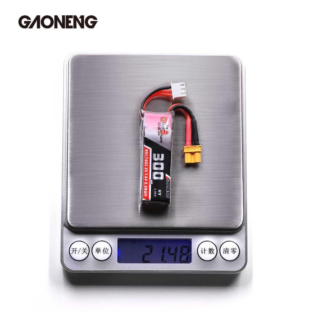 2 piezas Gaoneng GNB 300 mah 7,6 V 80C/160C HV Lipo batería con XT30 enchufe para BETAFPV Beta75X 2 S Beta65X 2 S Whoop Drones