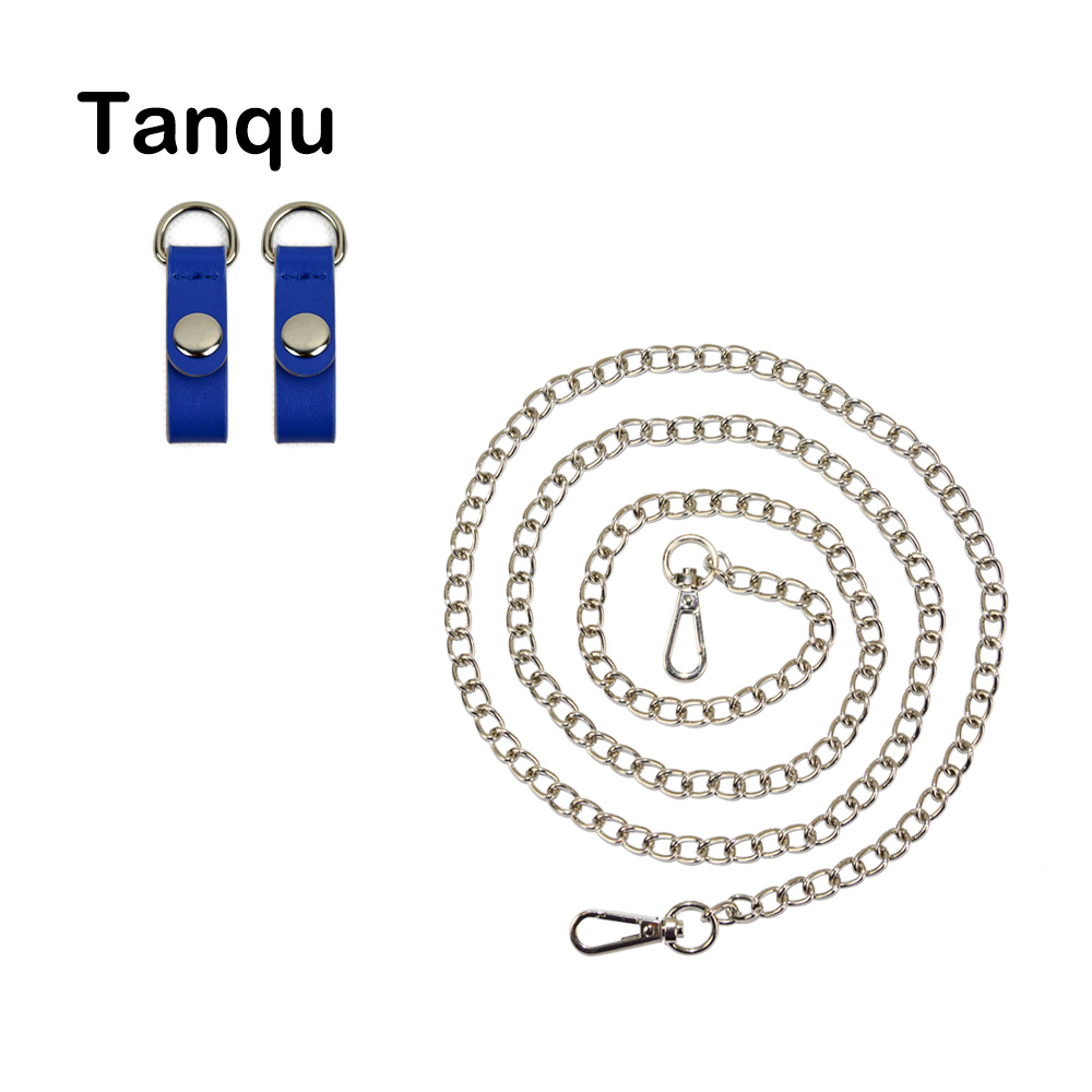 TANQU Silver Golden Metal Chain Hook With Faux Leather Clip Closure For OPocket Obag O Bag