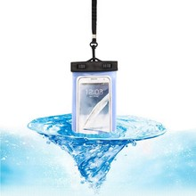 Touch screen, PVC mobile phone waterproof bag, swimming drift, transparent camera cover wholesale