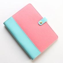 Cute new felt office school diario en espiral cuadernos papelería, candy student person binder planner agenda organzier regalo, A5A6