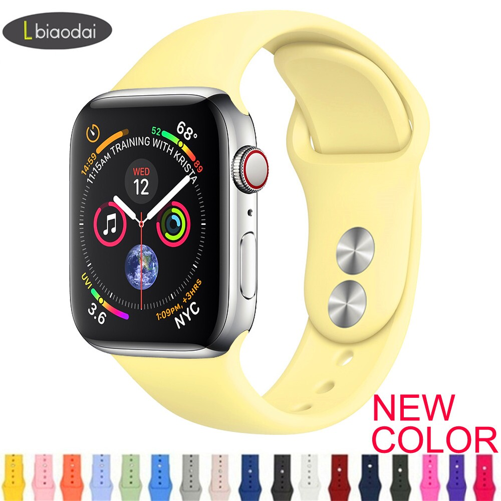 Lbiaodai Strap For Apple Watch band 4 band Silicone