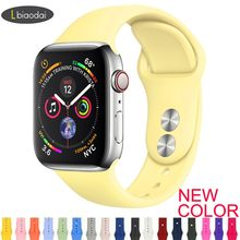 Correa de reloj Apple Watch banda 38mm 42mm iWatch 4 banda de 44mm 40mm deporte correa de silicona pulsera correa de reloj de Apple 5 4 3 2(China)