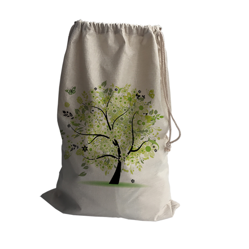 tree print linen Storage Bags Drawstring Backpack Baby Kids Toys Bags for Shoes School Travel Laundry Lingerie Makeup Pouch