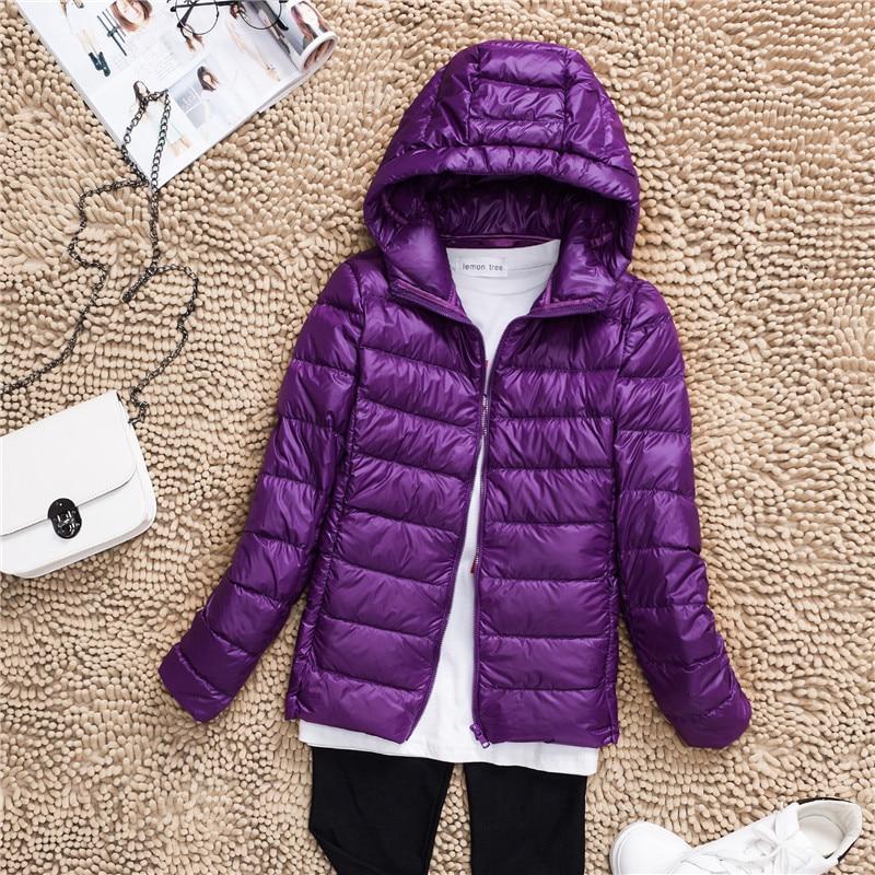 Plus Size S-7XL 90% White Duck Down Jacket Women Winter Women's Overcoat Female Ultra Light Autumn Hooded Down Coat Jackets 2018