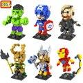 LOZ Super Herói The Avengers 2 Estilos Loki Mini Diamante Blocos Tijolos para Construção Blocos Figura de Ação para Crianças DIY Brinquedos Educativos