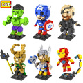 LOZ Super Hero The Avengers Loki 2 Estilos Mini Diamond Bloques Ladrillos Bloques de Construcción de Figuras de Acción Niños DIY Juguetes Educativos