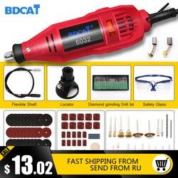 BDCAT 180 w Gravura Dremel Ferramenta Rotativa de Velocidade Variável Mini Broca Elétrica Moagem Máquina com 180 pcs acessórios para Ferramentas Eléctricas