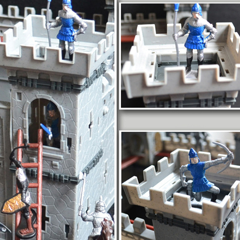 Image 5 - Mediaeval Castle Soldiers Model Assembled Building Block War Military Knights Plastics Action Figures Toy DIY Toy For BoysAction & Toy Figures   -