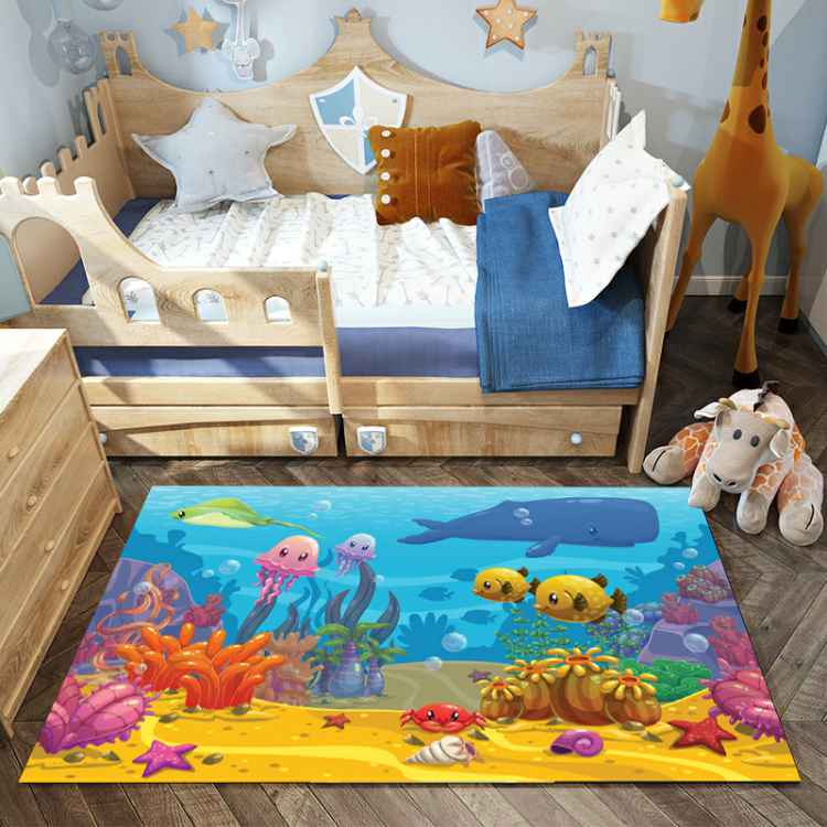 YOOSA Kids Room Cartoon Carpet For Living Room Soft Carpets Kids Room Cute Rugs For Bedroom Computer Chair Floro Mat/ Area Rug