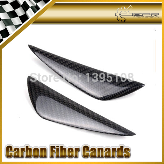 ФОТО New Car Styling For Volkswagen Scirocco Golf 6 7 GTI R20 Real Carbon Fiber Front Bumper Canards 2pcs