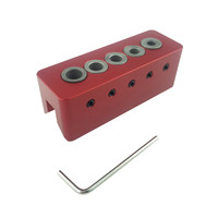 YOFE Woodworking Pocket Hole Jig Drill Straight Angle Guide Bit Doweling Jig Carpentry Woodwork Hole Depth