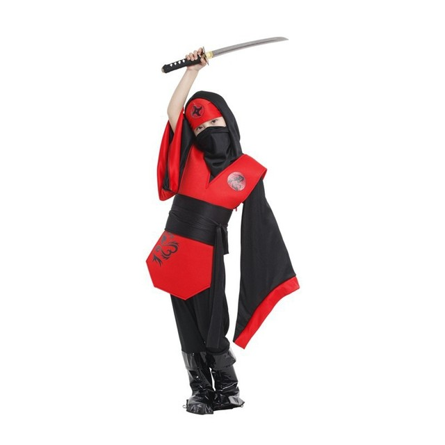retail new halloween costumes for kidsgirls children mysterious ninja costumes cosplay for girls 4