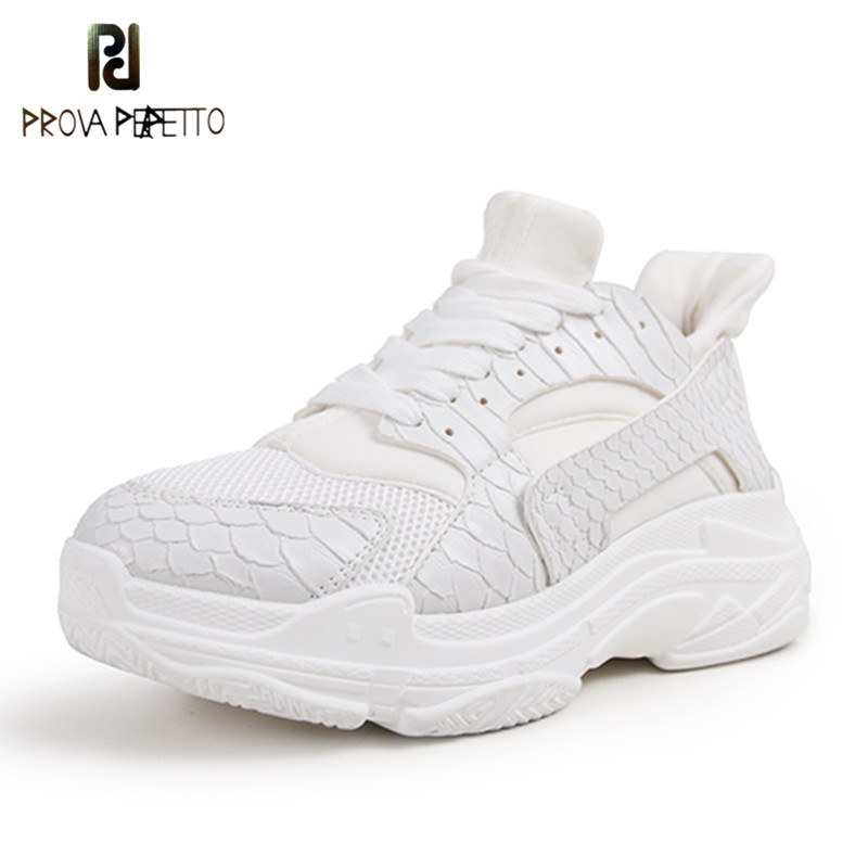 Prova Perfetto 2018 Casual Shoes Woman Summer Comfortable Breathable Mesh Flats Female Platform Sneakers Women Chaussure Femme цена