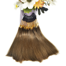 30 шт./лот, человеческие натуральные волосы, цветные кольца для наращивания человеческих волос и салонного окрашивания волос, могут быть окрашены в любой цвет