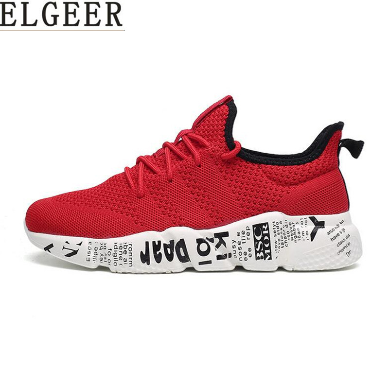 ELGEER Woven Men Casual Shoes Breathable Male Shoes Tenis Masculino Shoes Zapatos Hombre Sapatos Outdoor Shoes Sneakers Men