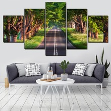 Highway HD Print Painting Wall Art Canvas Living Room Modern Decor Picture Poster 5 Piece Landscape