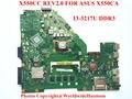 Madre Original del ordenador portátil para ASUS X550CA X550CC REV2.0 I3-3217U DDR3 100% probado Completamente
