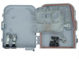 Image 3 - Firstfiber ftth 8 코어 섬유 종료 상자 8 포트 8 채널 분배기 상자 실내 야외 섬유 광 분배기 상자 ftb abs