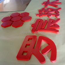 high quality laser cut painted 9mm thick PVC sign boards