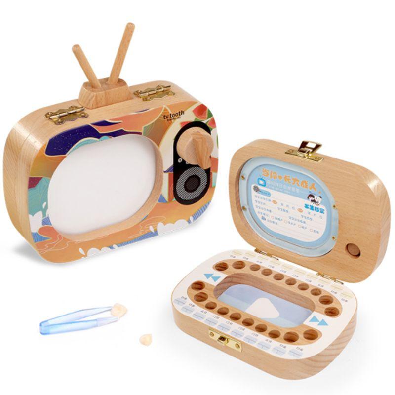 Baby Teeth Keepsake Box Kids Memory Storage Souvenirs Organizer